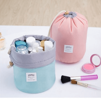 Cylindrical make-up bags