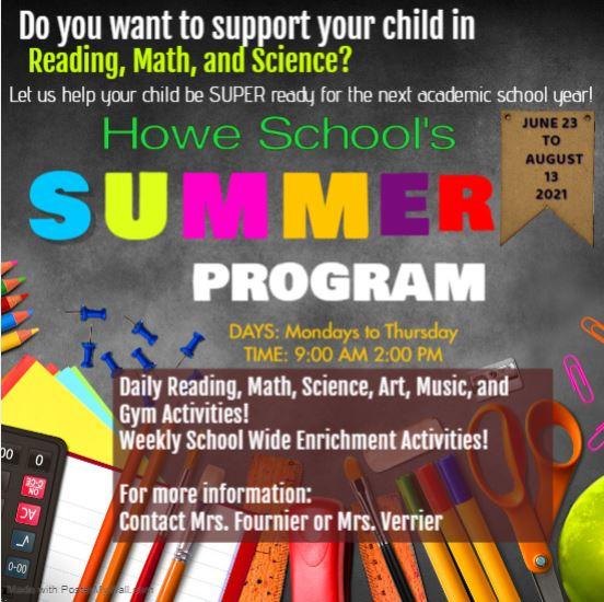 Summer Program Reminder!