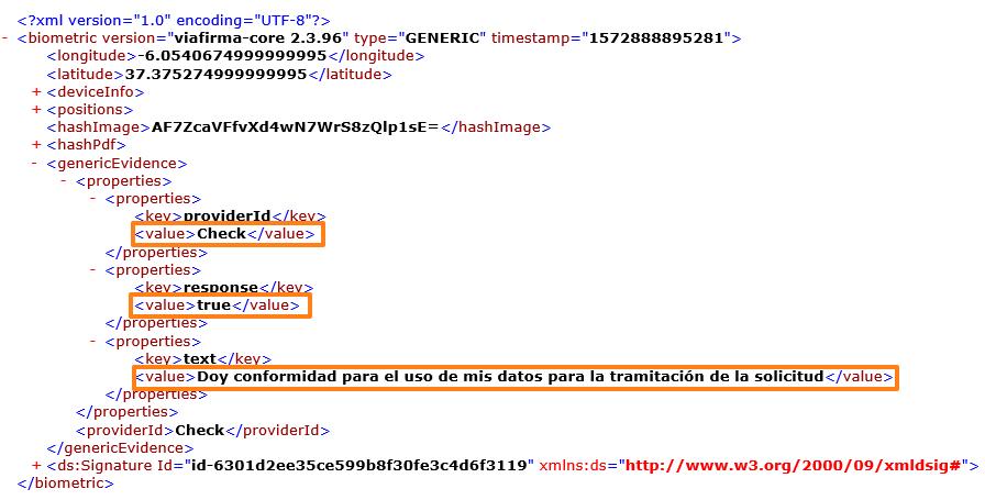 XML checks avanzados firma electrónica