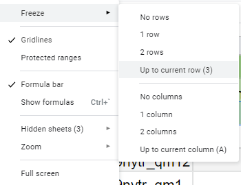 """Step 4: Shows that you need to click """"up to current row"""""""