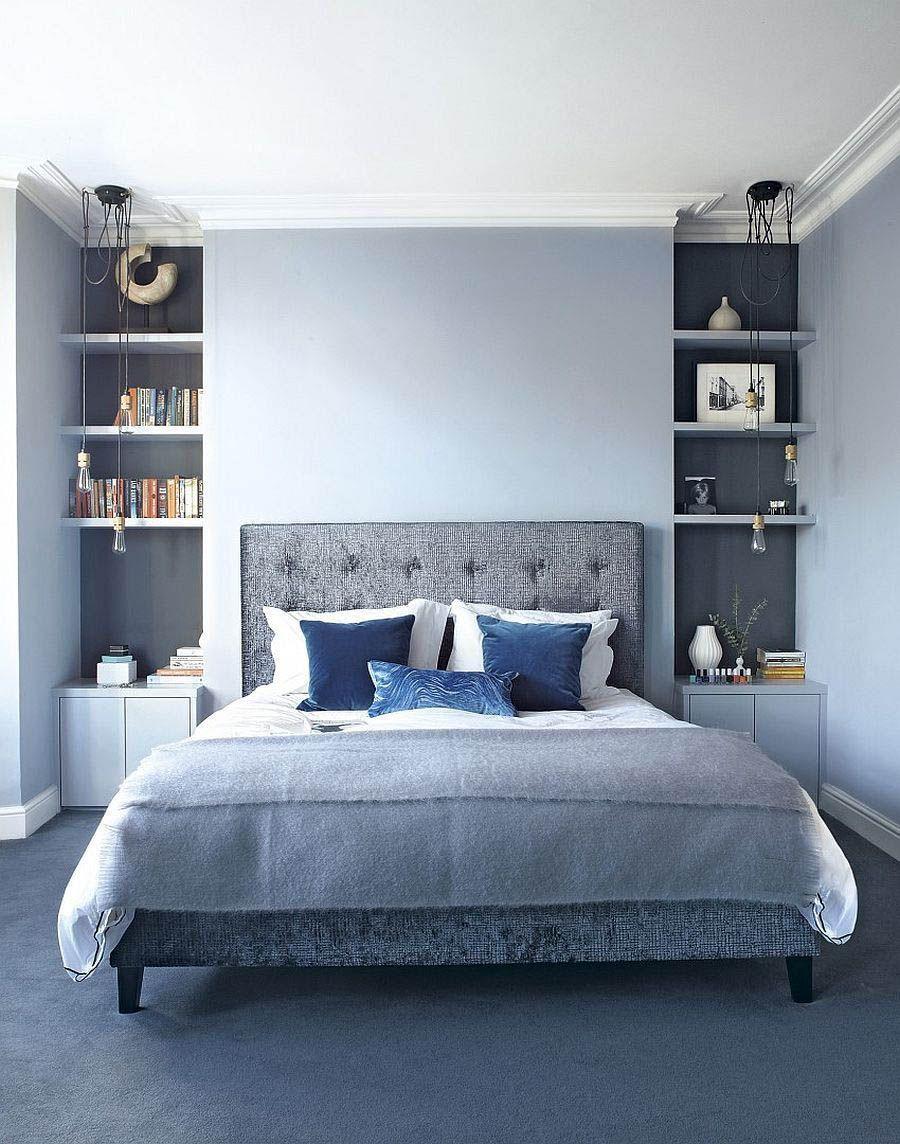Light Blue Minimalist Bedroom Ideas