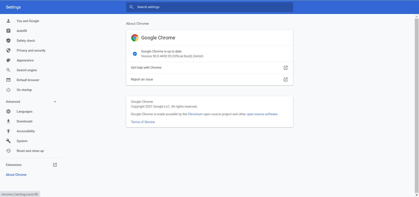 ERR_CACHE_MISS - Chrome Settings