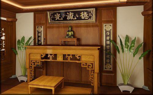 Bàn thờ bằng gỗ gụ sang trọng