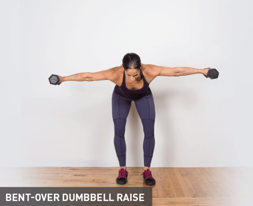 BENT-OVER DlJMBBELL RAISE