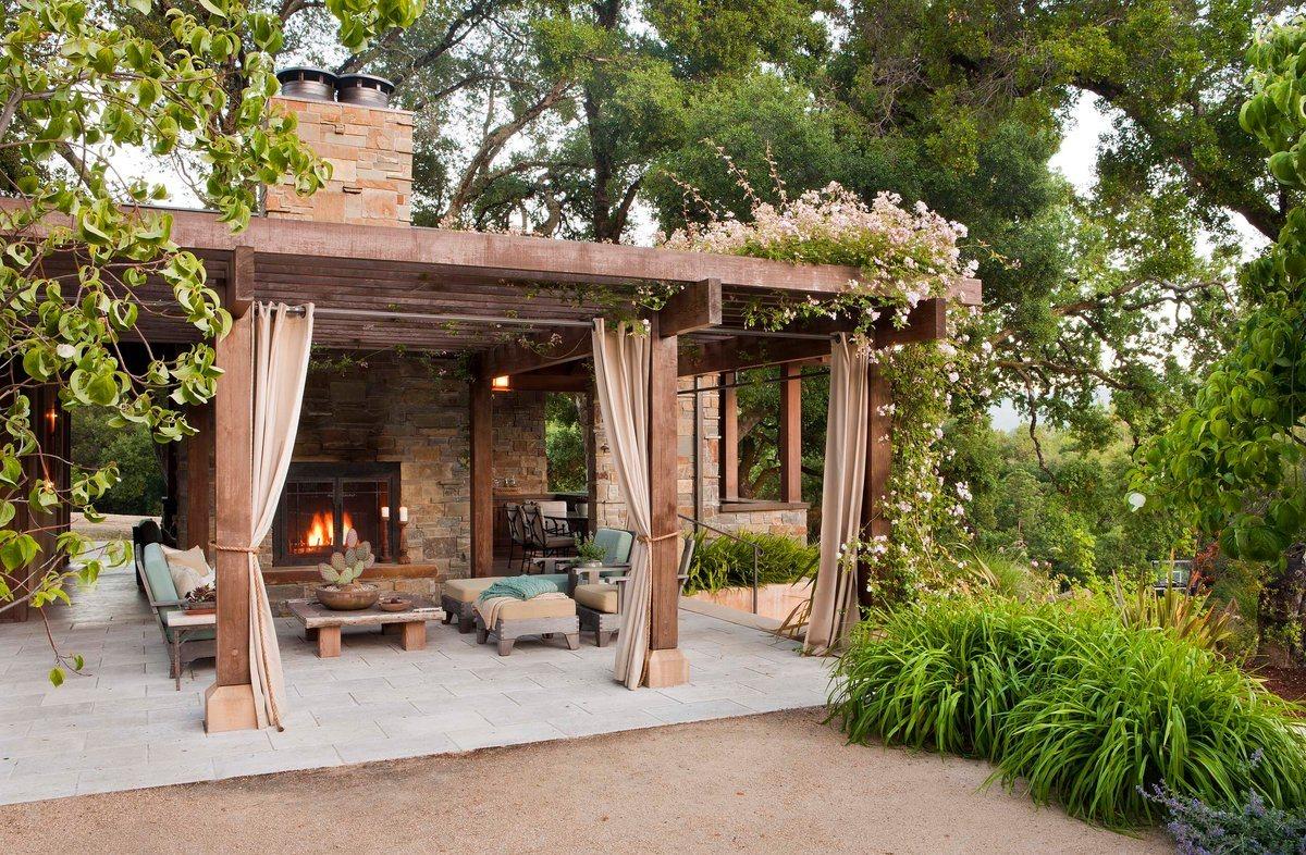 terrace as garden shelter idea