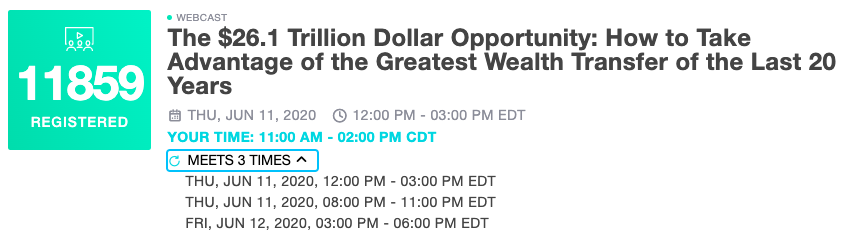 Signed up for the greatest wealth transfer in the last 20 yrs