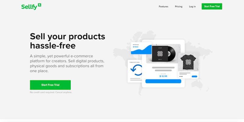 Sellfy ecommerce platform