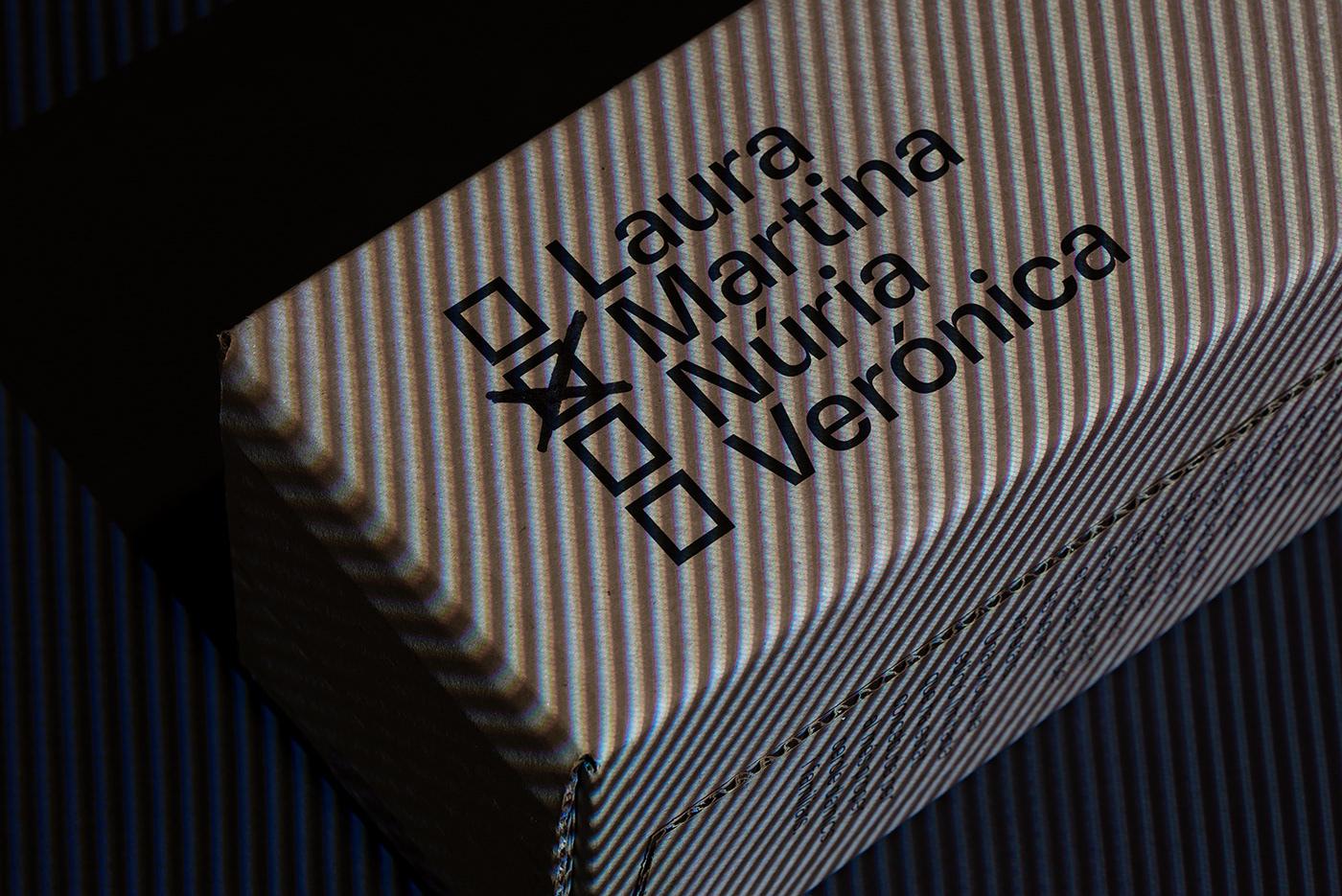Casa Cardona wines. Close-up of the wine box  names with Martina checkbox selected