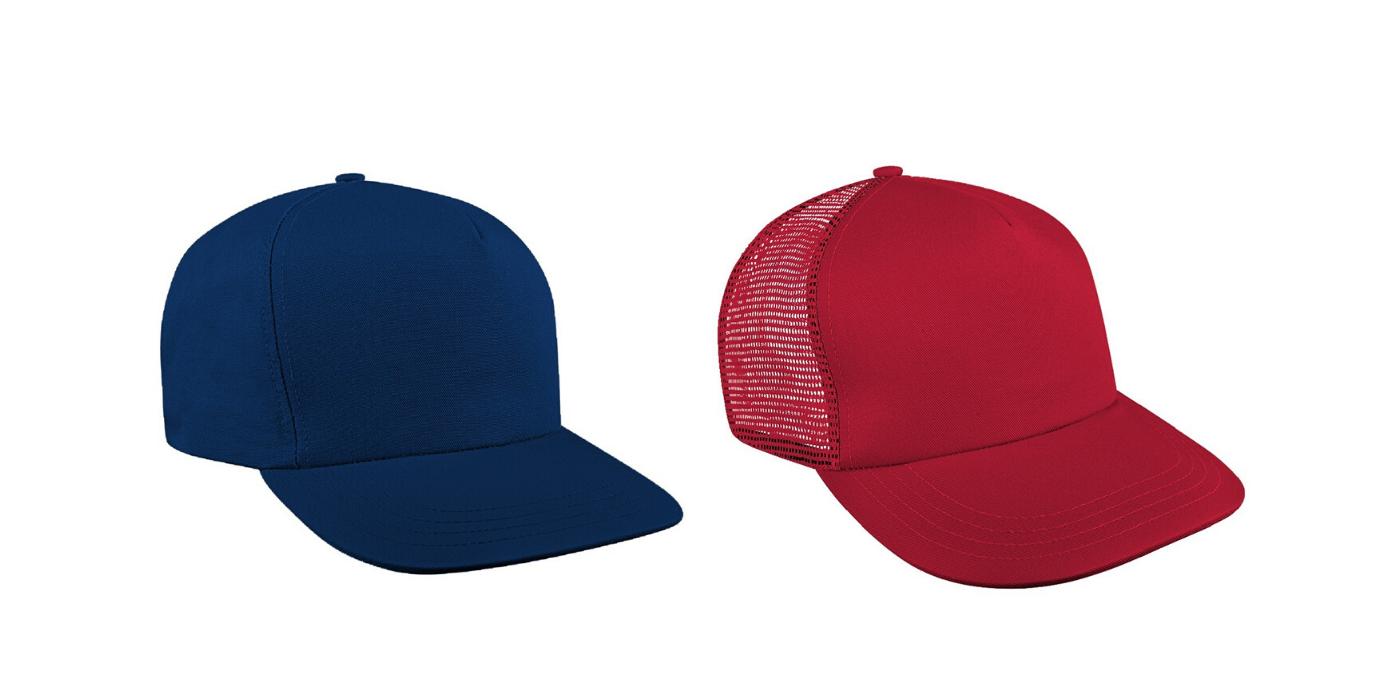 blue red cap