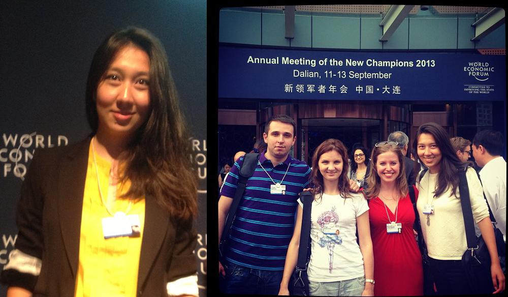 Анна Хан (Global Shapers HUB Kaliningrad) на встречи Всемирного Экономического Форума в Китае.