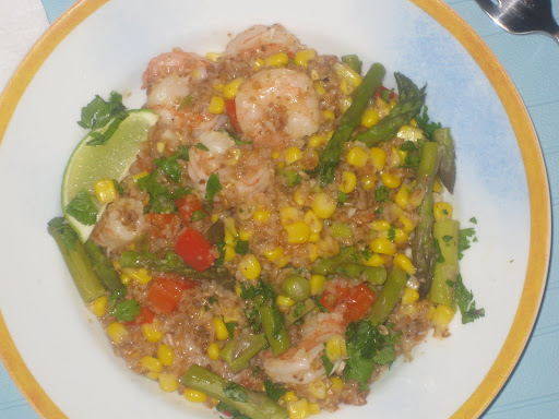risotto with corn and bulgur risotto with corn mediterranean shrimp ...