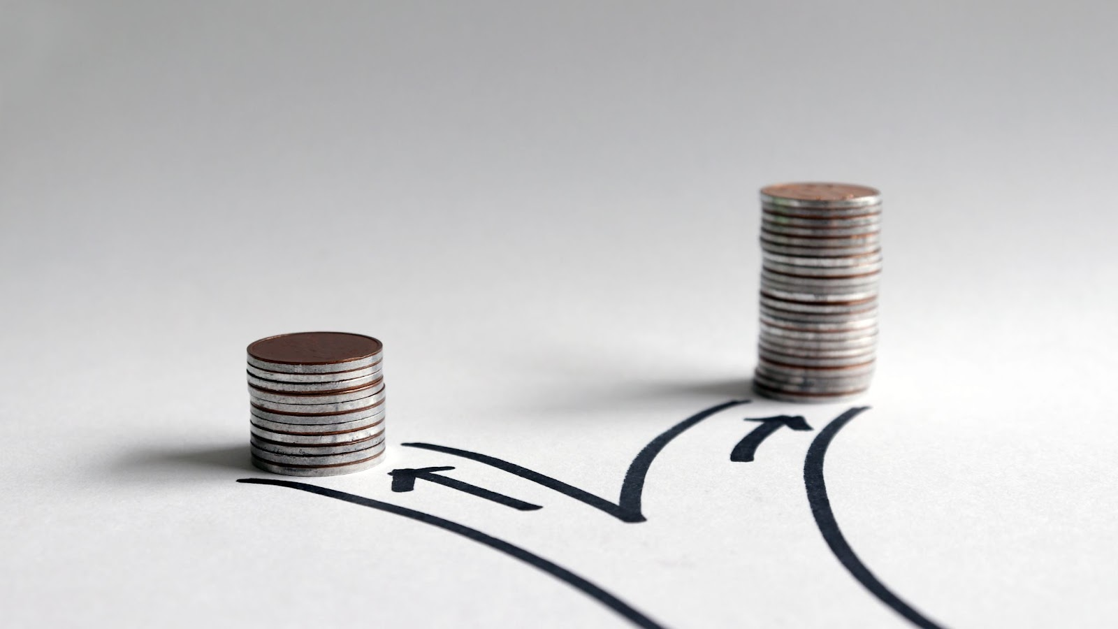 Qualified dividends: Two stacks of coins