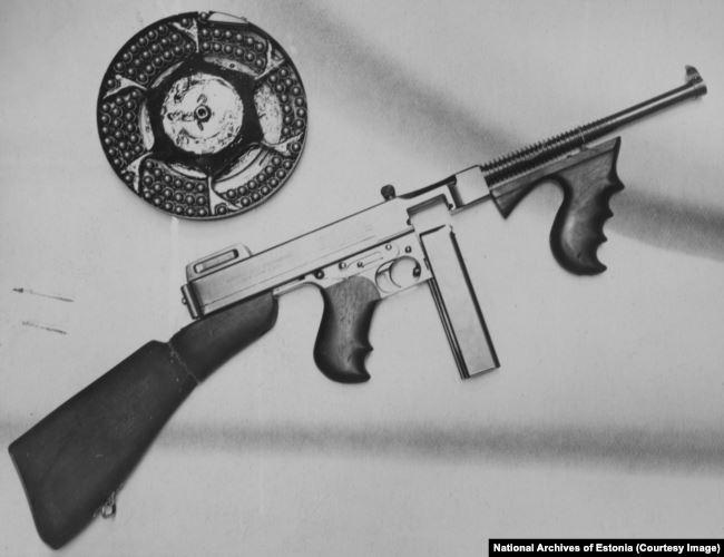 Захваченное властями оружие красных бунтовщиков, 1924 г.