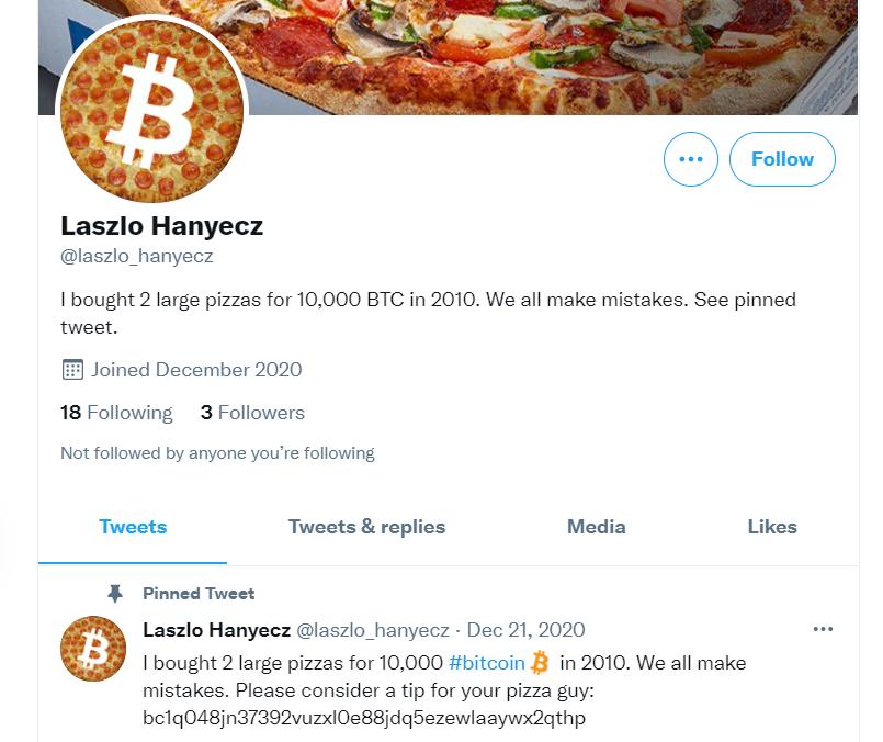 another Laszlo Hanyecs twitter account fake