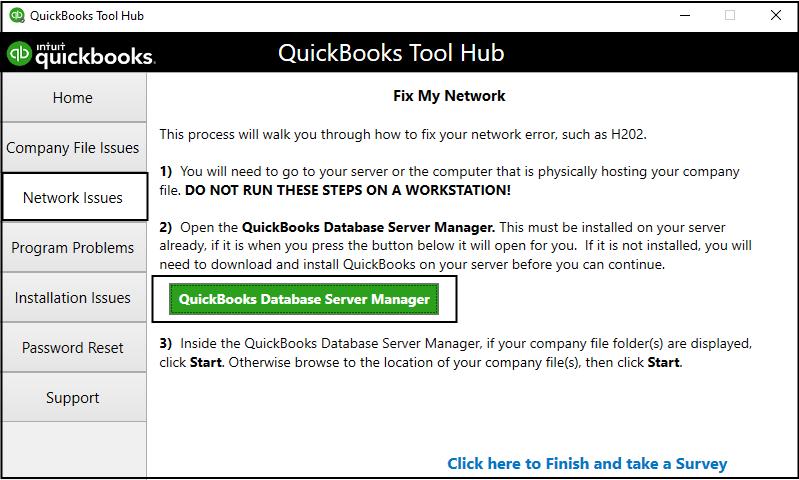 Quickbooks Error 6000 308 : DBSM
