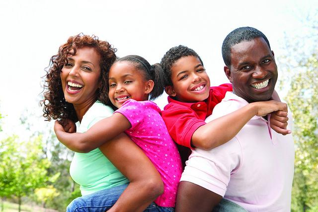 Family consisting of a father, mother, and two children