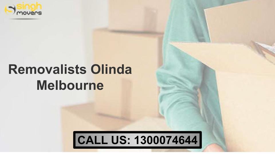 Removalists Olinda Melbourne