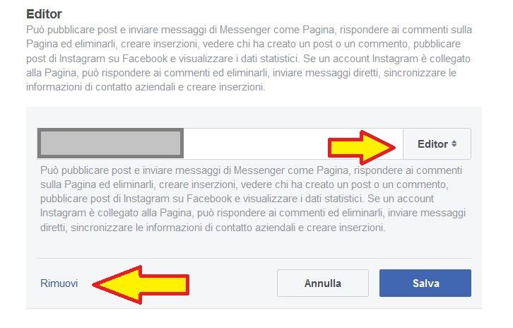 Cambiare amministratore pagina Facebook