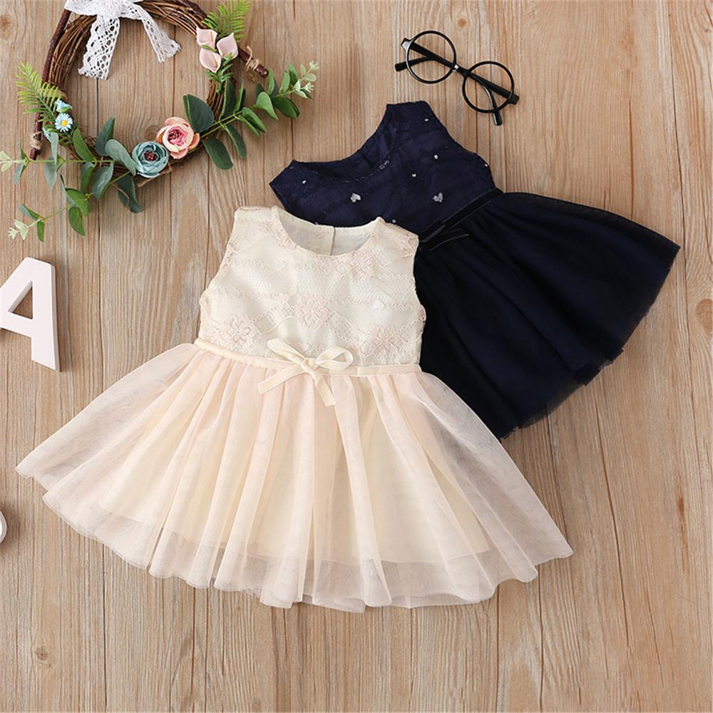 Birthday: Baby Girl Lace Tutu Dress With Bowknot