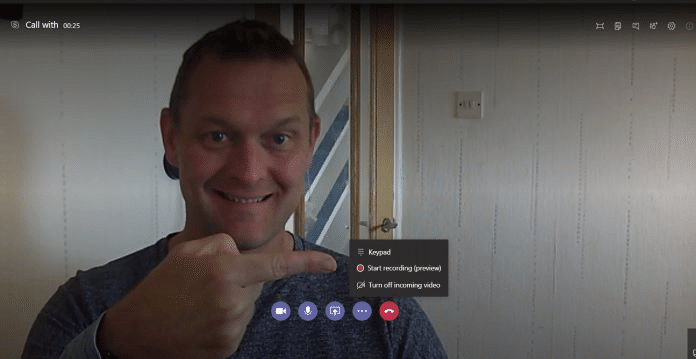 Recording in Microsoft Teams