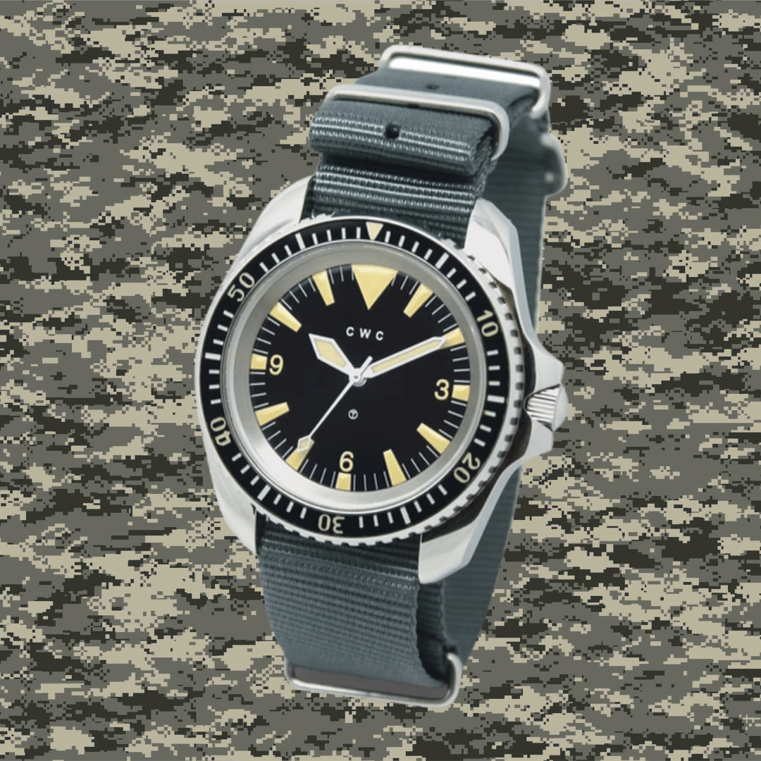 Photo of a 1980 CWC Royal Navy Dive watch