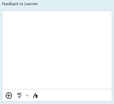 A larger feedback window with additional tools.