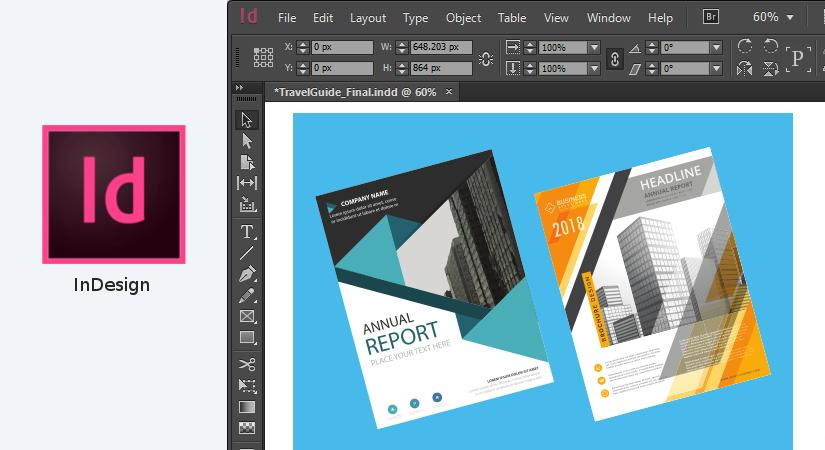 Indesign graphic design software