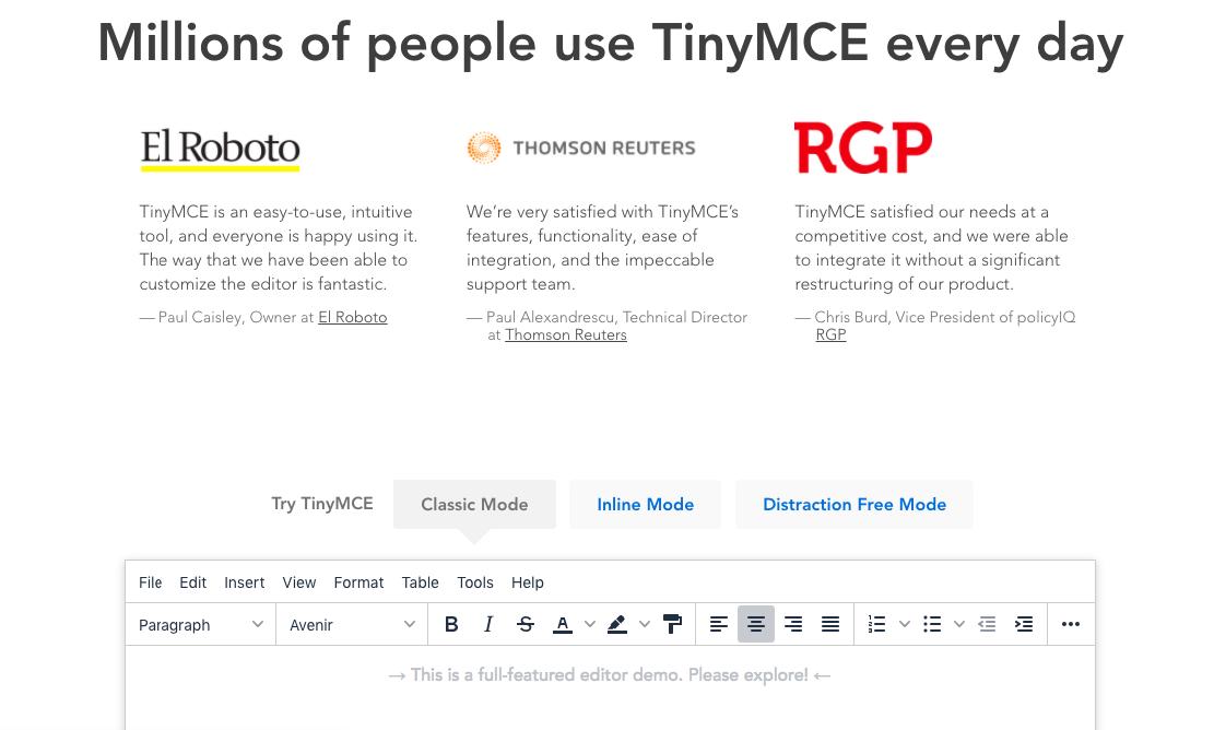 tiny MCE editor wordpress plugin