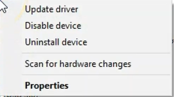 right clicking disk driver and updating or uninstalling device