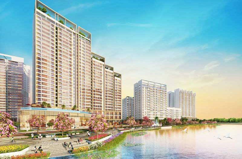 Dự án Phú Mỹ Hưng Midtown với điểm nhấn là công viên Hoa Anh Đào