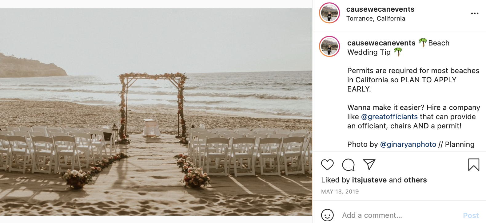permit for public beach wedding