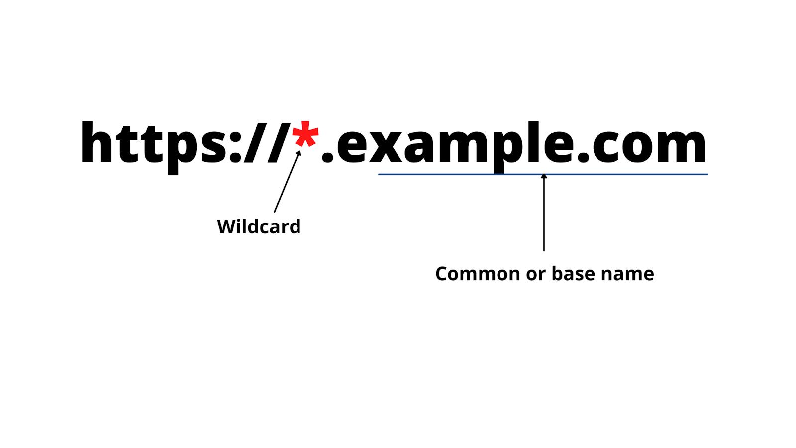 Wildcard SSL Certificate example
