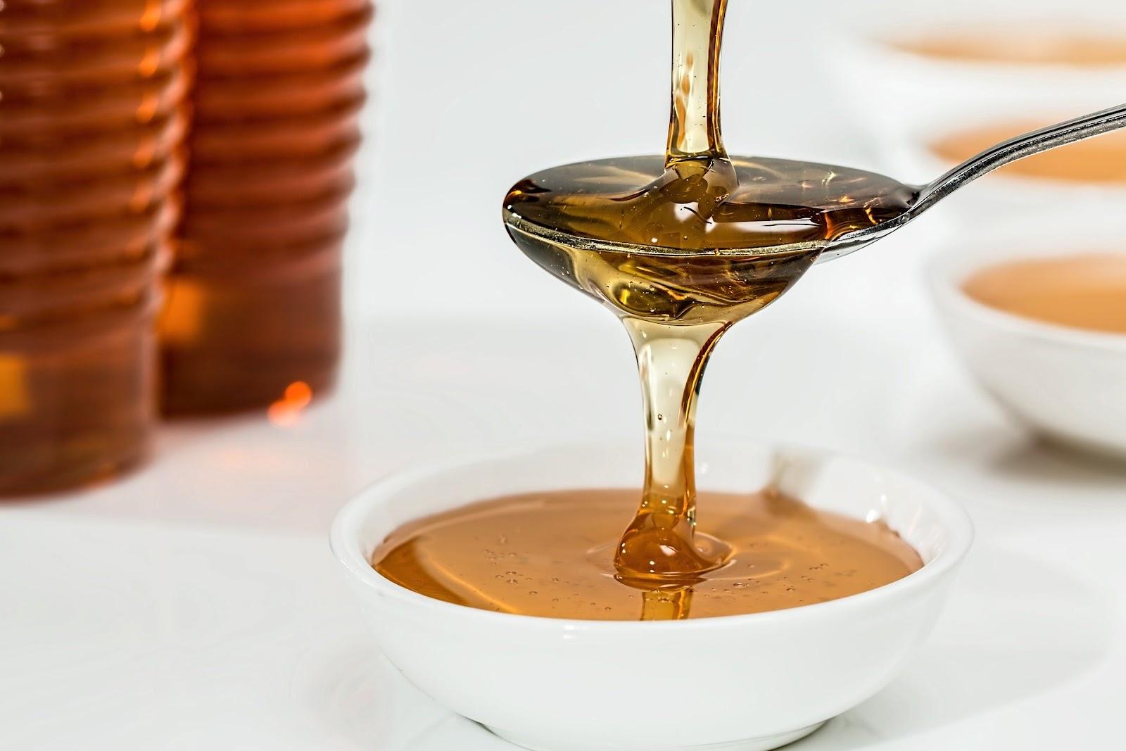 Lepel met honing
