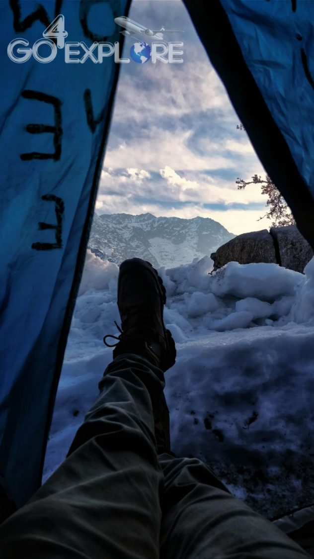 camping Snowline- Trek Above The Triund in -16 degree Winter