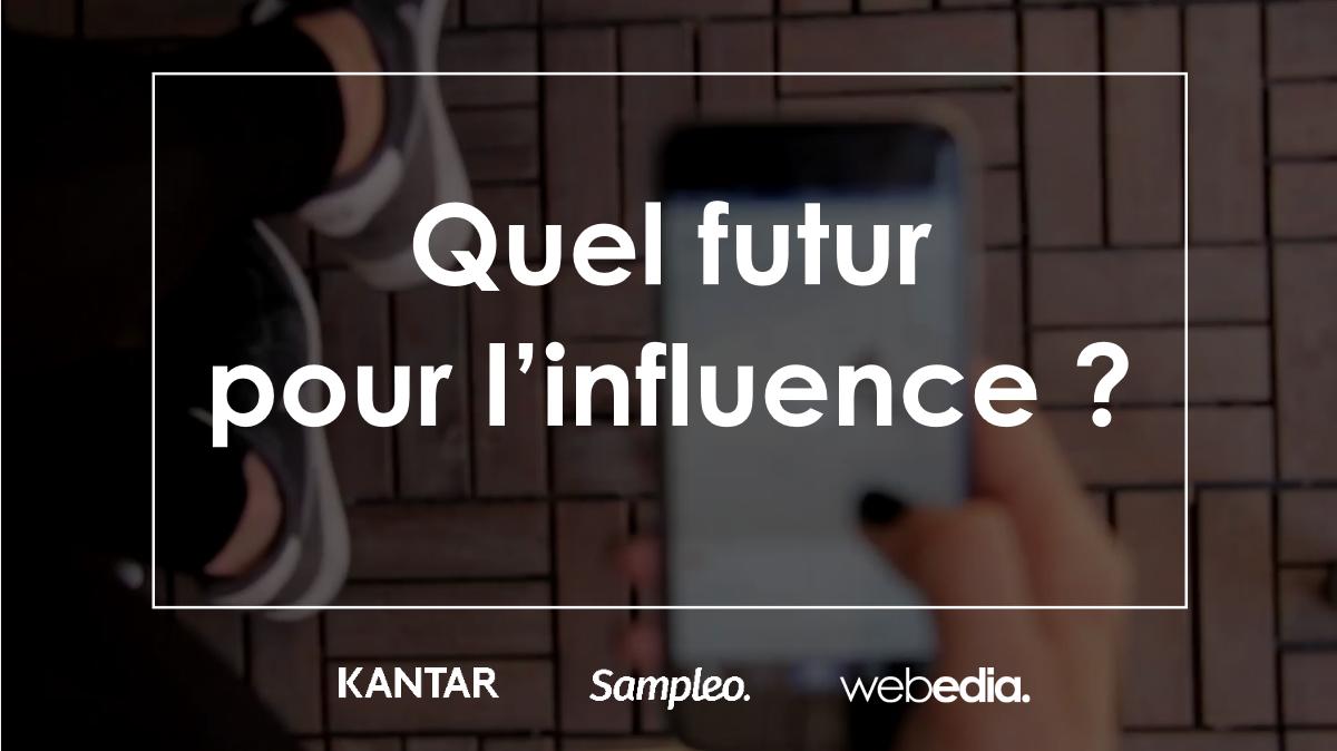 Visuel sur une diapositive présentée par Webedia lors d'un webinaire sur le futur de l'influence dans le domaine du marketing digital
