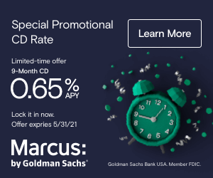 Example banner ad from Marcus by Goldman Sachs