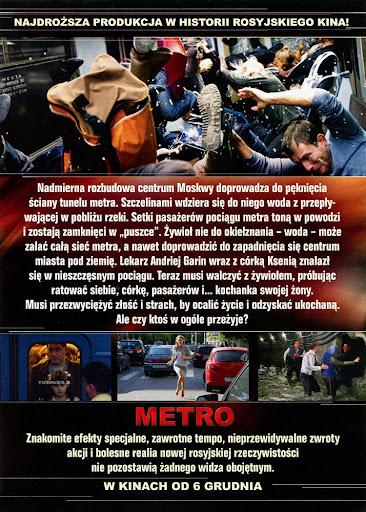 Tył ulotki filmu 'Metro'