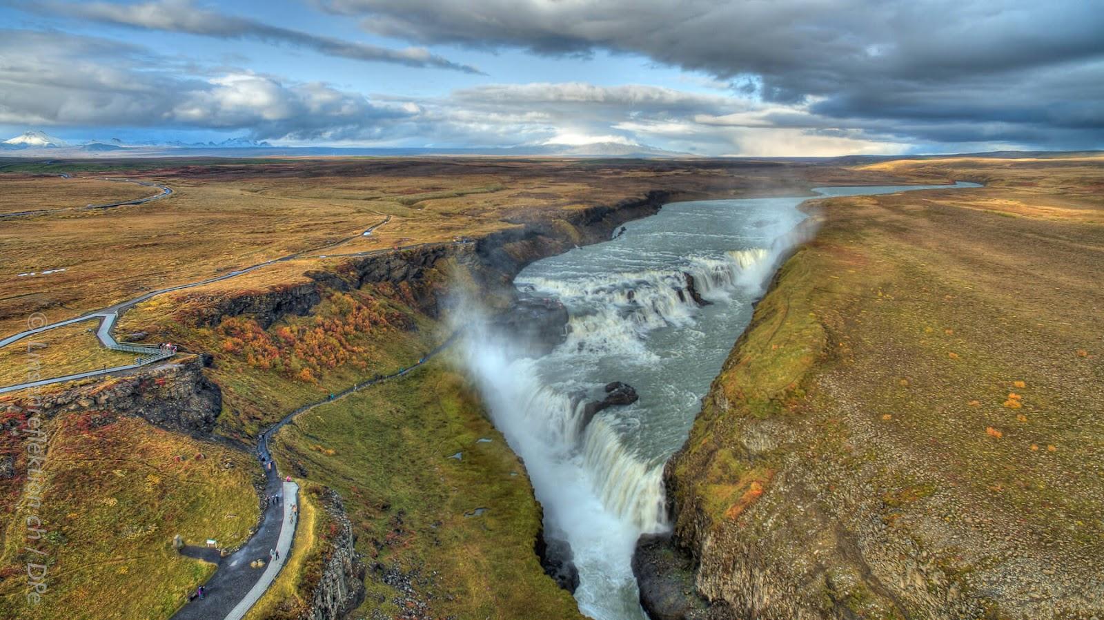 gulfoss waterfalls, best waterfall in iceland, golden circle