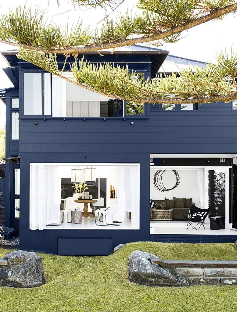 แบบบ้านโทนสีน้ำเงิน