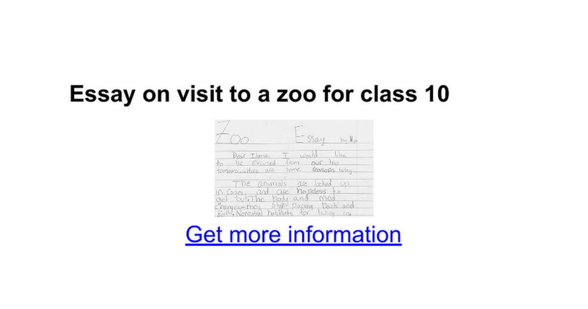 A trip to the zoo essay