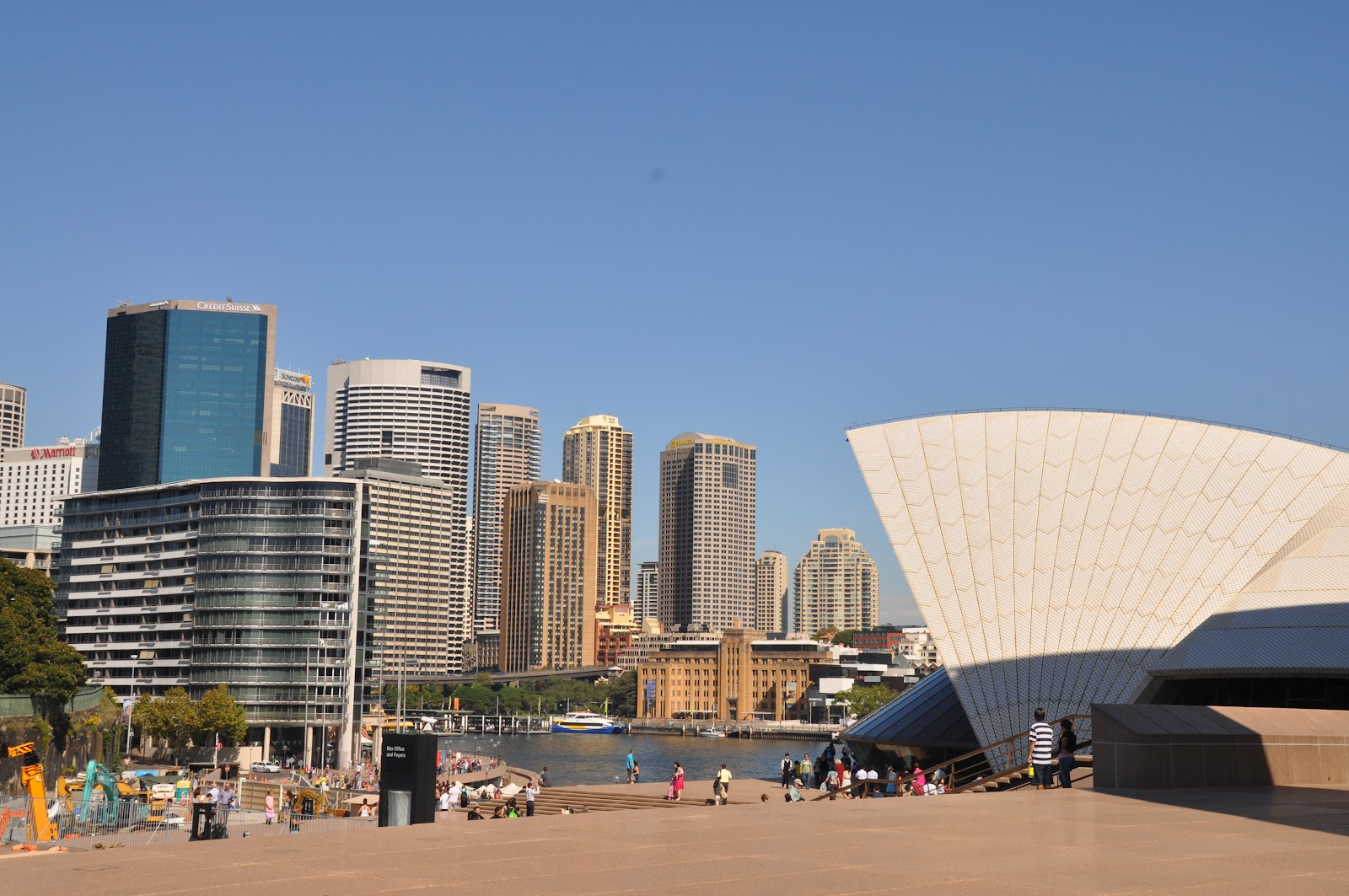sydney downtown opera house during sunset