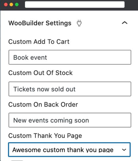 WooBuilder Settings
