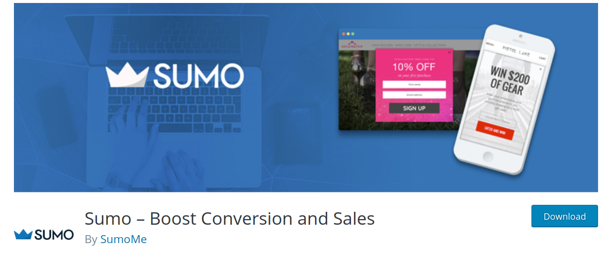 sumo wordpress popup plugin header