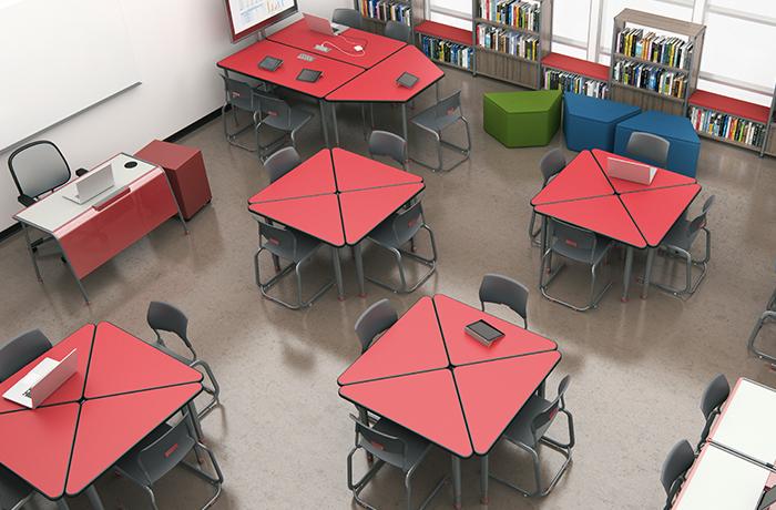 Risultati immagini per flexible desk furniture north arkansas high school