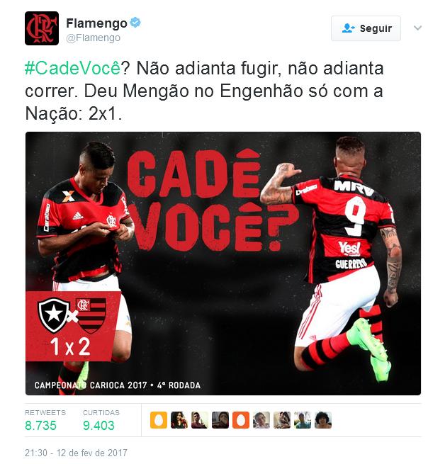 Flamengo provoca botafoguenses, mesmo após morte de torcedor