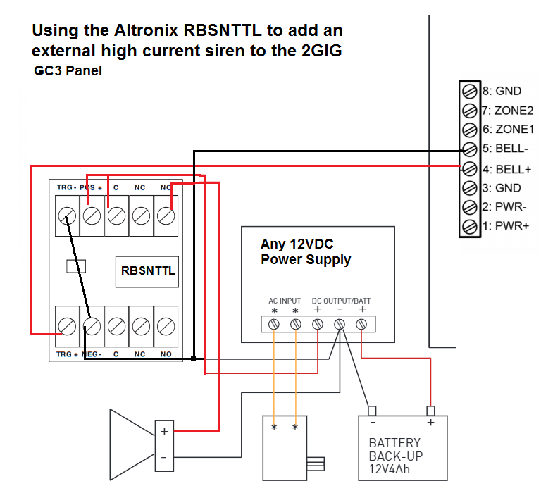 How Do I Add A Wired Siren To A 2gig Gc3