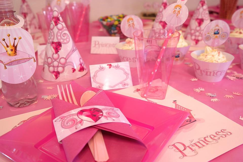 Princess party table spread