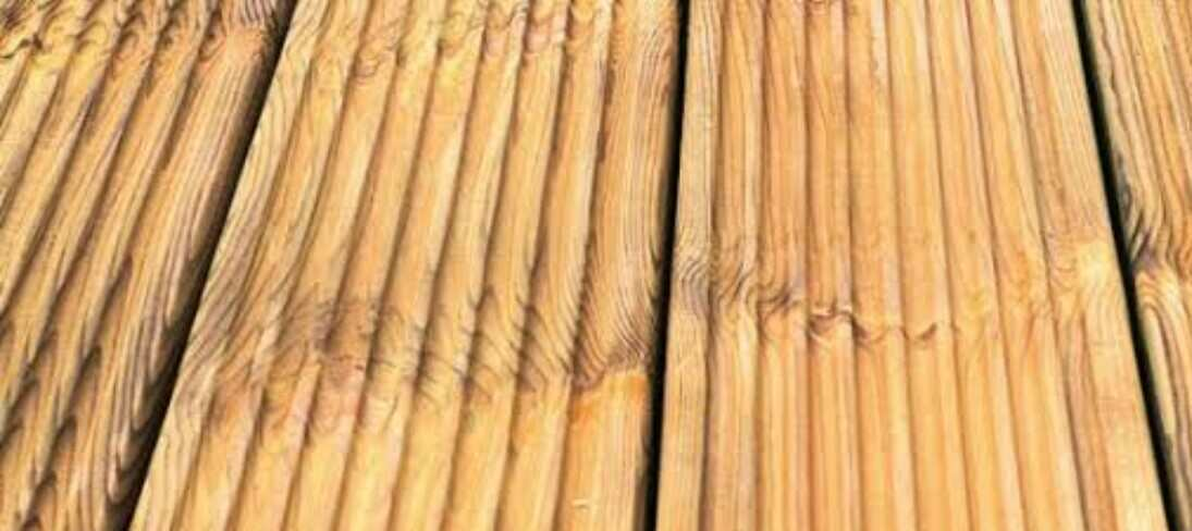 fill rotting wood deck