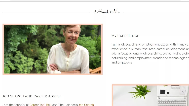 Career expert personal website