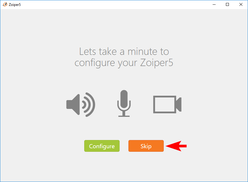 Microphone and Camera Settings Interface for Zoiper